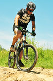 Offroad bicyclist Stock Photo