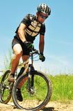 Offroad bicyclist Royalty Free Stock Photo