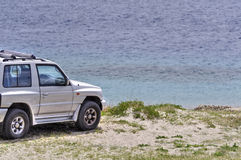 Offroad capo peloro beach sicily Stock Photography