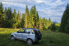 Offroad car in Apuseni  Mountains Stock Image