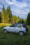 Offroad car in Apuseni  Mountains Stock Photos