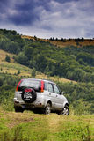 Offroad car in Apuseni mountains Stock Photo