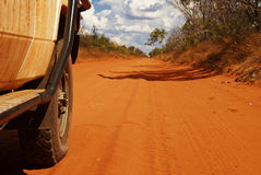 Offroad Car In The Australian Outback Stock Image
