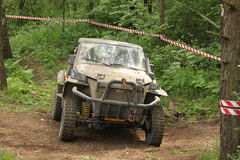 Offroad car. Offroad 4x4 challenge in Poland Royalty Free Stock Images