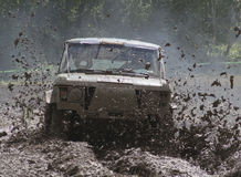 Offroad car driving Stock Photography
