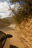 Offroad car driving Stock Images
