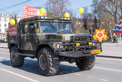 Offroad car of Emergency Ministry on parade Stock Photography