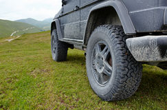 Offroad car in the mountains Stock Image