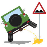 Offroad car pissing color Stock Image