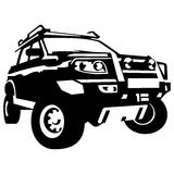Offroad car suv 4x4. Illustration offroad car suv silhouette vector illustration