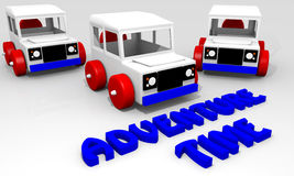 Offroad car toy Stock Photography