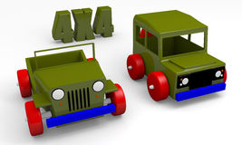 Offroad cars toy Royalty Free Stock Photos