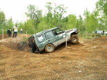Offroad 4x4 challenge. Offroad car in action. Extreme challenge Stock Images