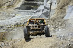 Offroad Competition in Hard Cliff Area royalty free stock image