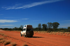 Offroad in Desert - The Red Centre, Australia Royalty Free Stock Images