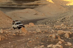 Offroad in the desert of Sahara Royalty Free Stock Image