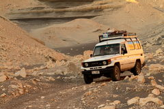 Offroad in the desert of Sahara Royalty Free Stock Photos