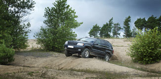 Offroad driving Royalty Free Stock Photo