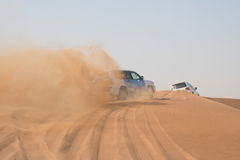 Offroad driving in desert Stock Images