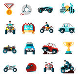 Offroad Icons Set Royalty Free Stock Images