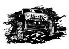 Offroad jeep Royalty-vrije Stock Foto's