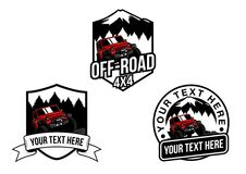 Offroad jeep 4x4. This is vector jeep for t-shirt, logo, etc Royalty Free Stock Photo