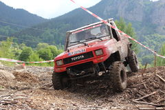 Offroad konkurrens Smolyan 4x4 Bulgarien - Smolyan Arkivbild