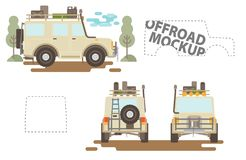 Offroad mockup. Vehicle from all sides Royalty Free Stock Photography