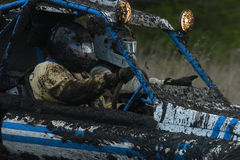 Offroad mud 02. Off Road racer go through their paces during a very muddy race Stock Images