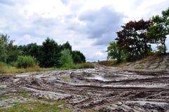 Offroad, natural dirt terrain Stock Image
