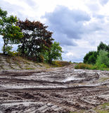 Offroad, natural dirt terrain Royalty Free Stock Images