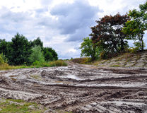 Offroad, natural dirt terrain Royalty Free Stock Photo