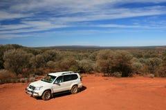 Offroad no deserto - o centro vermelho, Austrália Imagens de Stock Royalty Free