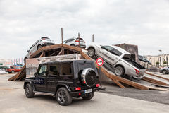 Offroad parcours at the IAA 2015 in Frankfurt, Germany Stock Photos