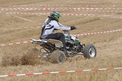 Offroad quad driver Stock Photography