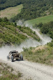 Offroad run on terrain track Royalty Free Stock Images