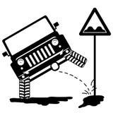 Offroad samochód sika 3 royalty ilustracja