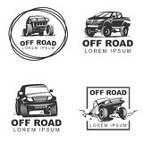 Offroad set emblems2 Stock Photography
