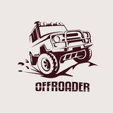 Offroad suv car template for labels, emblems, badges Stock Photo