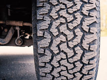 Offroad Tire Tread. Close-up of offroad Mud-Terrain tire tread Royalty Free Stock Images
