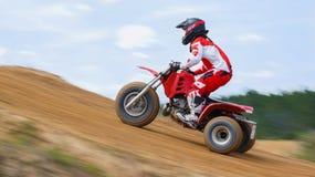 Offroad Trike Dirtbike för motocross tävlings- plats Arkivfoto