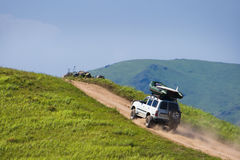 Offroad trip Stock Images