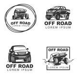 Offroad vastgestelde emblems2 Stock Fotografie