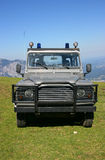 Offroad vehicle. Ranger offroad vehicle parked on mountain peak Royalty Free Stock Photography