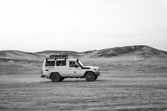 Offroad 4x4 vehicle driving in the desert, Hurghada, Egypt stock photos