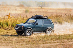 Offroad vehicle on rally competition Stock Photography