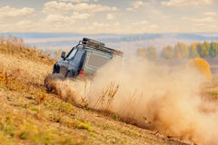 Offroad vehicle on rally competition Stock Photo