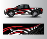 Free Offroad Vehicle Wrap Design Vector. Pickup Truck Decal Wrap Design Vector Royalty Free Stock Image - 187341986