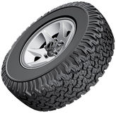 Offroad vehicles wheel Royalty Free Stock Photos