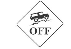 Offroad. Vintage old offroad sign - vector animation Royalty Free Stock Photo